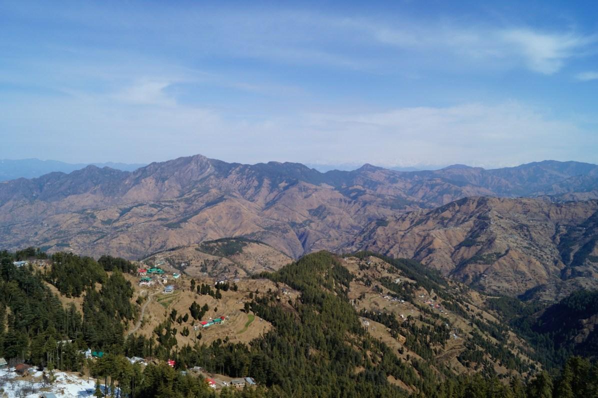 Shimla Cordillera Himalaya 01 - Shimla, lugares de interés: ciudad colonial al lado del Himalaya