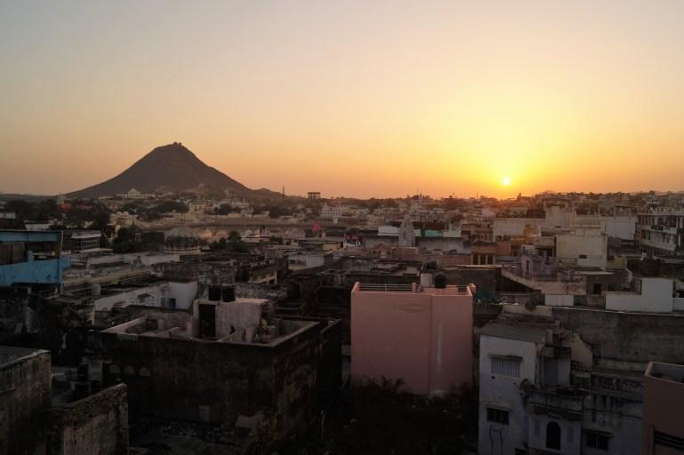 Visita a Pushkar - Anochecer sobre Pushkar
