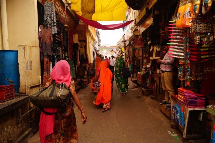 India - Bazar de la calle principal