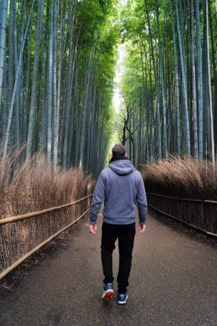 Kioto Arashiyama Caminando entre el Bosque de Bambú 682x1024 - Kyoto, the 9 most famous places to see in 4 days