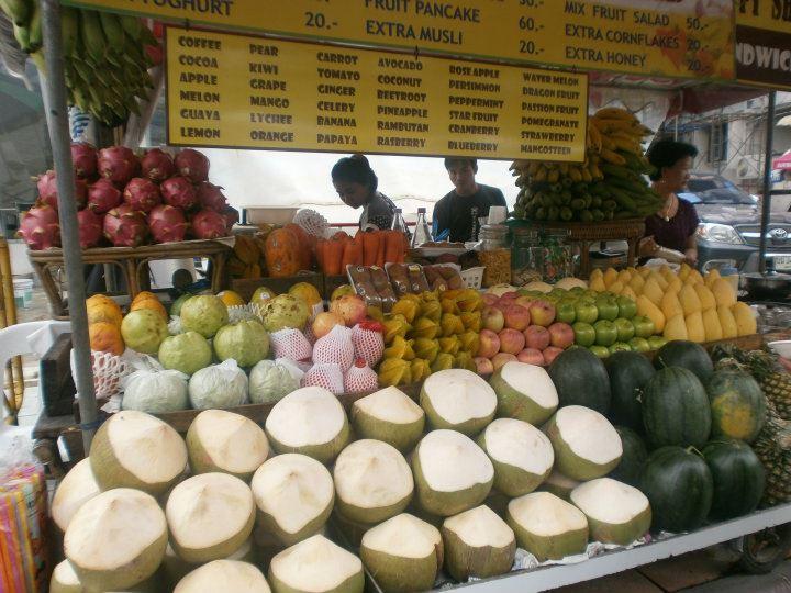 Tailandia Bangkok Puesto de frutas - Mejores lugares que ver en Bangkok en 2-3 días