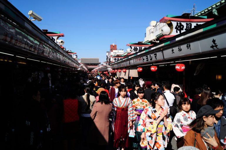 Tokio - Asakusa - Templo Senso-ji - Pasillo de entrada