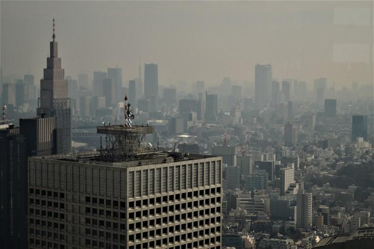 Tokio - Barrio Shinjuku Edificio del Gobierno Metropolitano