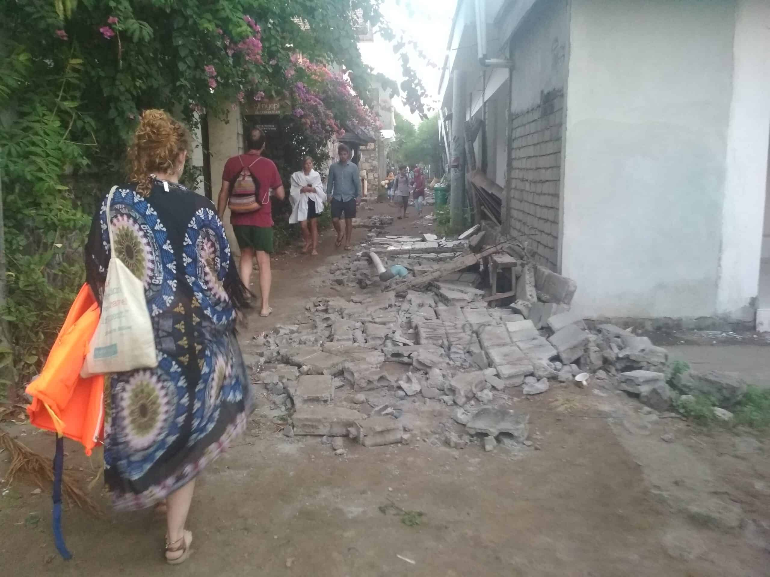 Gili Trawangan Terremoto de Lombok 05 scaled - Account of my experience in the Lombok earthquake of 6.9 in 2018