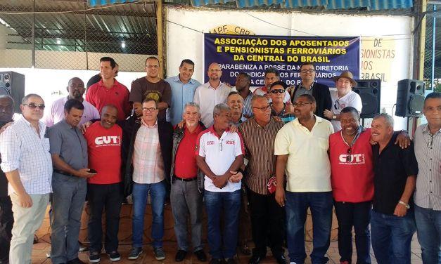 Sindicato presente na posse da nova direção do sindicato dos ferroviários