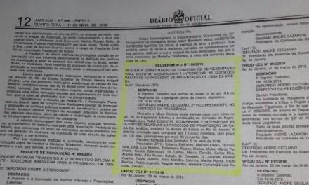 ALERJ cria Comissão de Representação para rediscutir plano de privatização