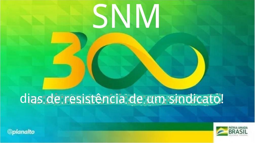 Diretoria do SNM na resistência contra o fim do monopólio e o processo de privatização