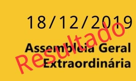 RESULTADO DA ASSEMBLEIA GERAL EXTRAORDINÁRIA REALIZADA EM 18/12/2019 SOBRE ACT 2019 E 2020