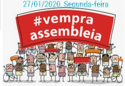 EDITAL DE CONVOCAÇÃO  ASSEMBLEIA GERAL EXTRAORDINÁRIAPARA O DIA 27/01/2020