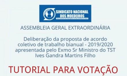 TUTORIAL PARA VOTAÇÃO NA ELEIÇÃO VIRTUAL DE AMANHÃ, DIA 19/05/2020 NO PERÍODO DAS 07:00 ÀS 17:00h.