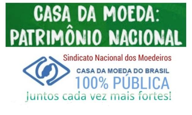 NOTA OFICIAL DO SNM – SINDICATO NACIONAL DOS MOEDEIROS