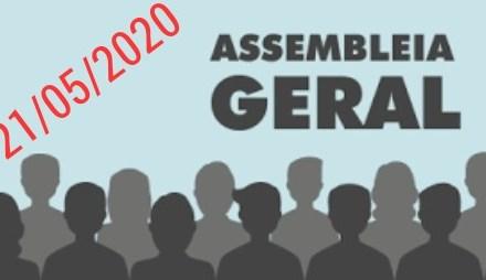 EDITAL DE CONVOCAÇÃO ASSEMBLEIA GERAL EXTRAORDINÁRIA PARA O DIA 21/05/2020