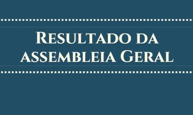 RESULTADO DA ASSEMBLEIA GERAL