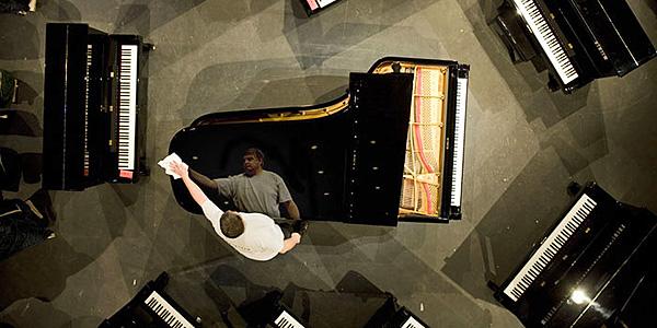Slide piano