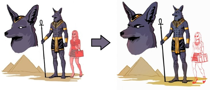 God Anubis early concepts