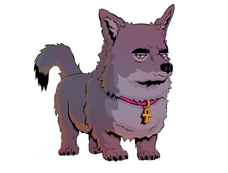 smiling anubis dog of death