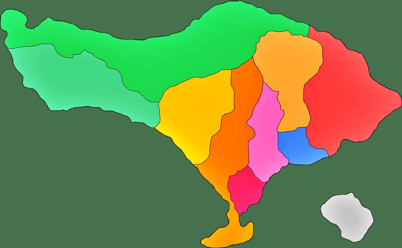 Berkat berada di garis lintang tersebut, bumi pertiwi berada di garis khatulistiwa. Peta Bali Bali Map Lengkap Sindunesia