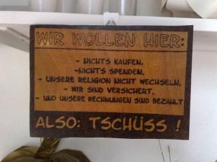 Tschuess Holz Schild