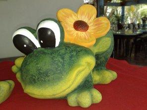 Gartenfigur Breitmaulfrosch