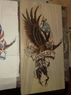 Harley-davidson adler und ami flagge