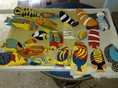 Dekofische aus Holz