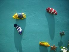 restaurierte deko fische