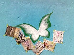 mariposa de la pared