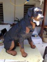 Dekofigur Hund sitzend