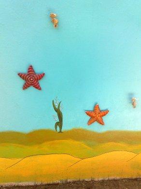 Wandgestaltung Aquarium