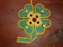 Kleeblatt Deko aus Draht