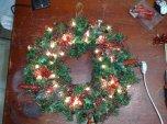 weihnachtlicher Kranz mit Beleuchtung in Rot 50cm Ø
