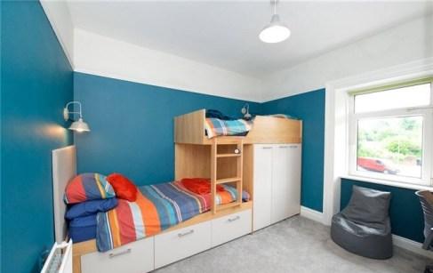 Bespoke bunk bed designed for boys bedroom.