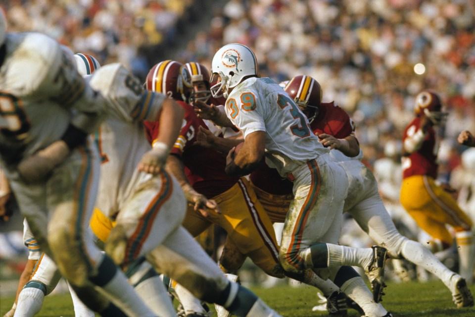 Miami Dolphins Larry Csonka vs Redskins, Super Bowl VII ...