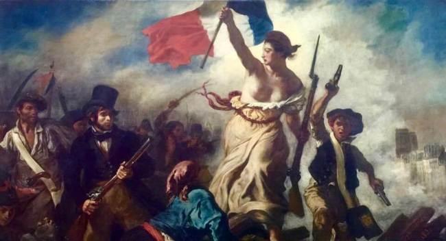 Halka Yol Gösteren Özgürlük Tablosu Eugene Lacroix