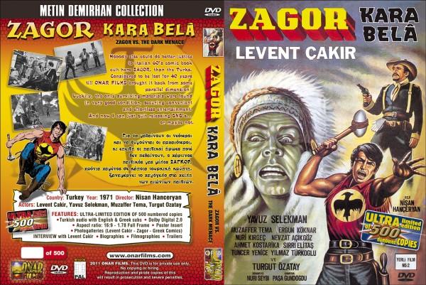 Dostumuz Vassilis hayatını kaybettiği için Onar films tarafından piyasaya sürülemeyen Zagor dvd'sinin kapağı