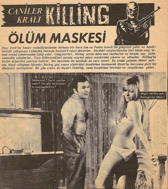 Kilink filmleri furyasından önce aslında orijinal ismiyle Killing fotoroman olarak yayınlanıyordu.