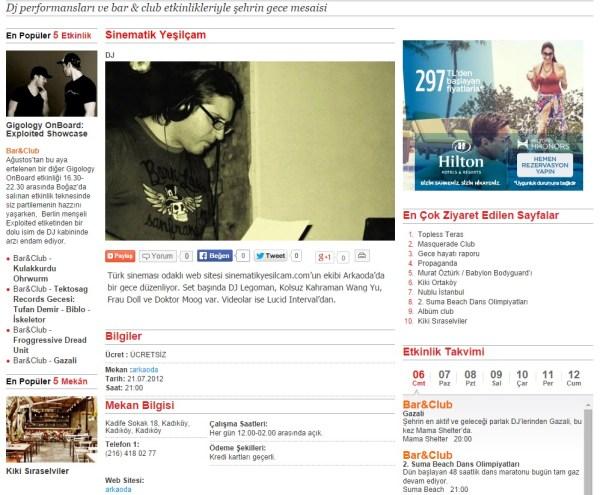 timeout sitesi arkaoda gig sinematik