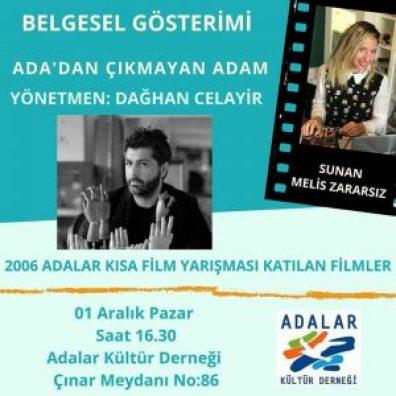 """Adalar Kültür Derneği'nde """"Melis Zararsız'la film gösterimleri"""" devam ediyor."""