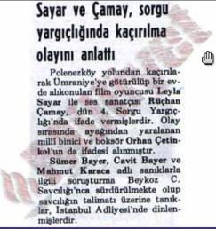 Polenezköy'de gizemli kaçırma!: 40 yıl önce gündemi meşgul eden Leyla Sayar ve Rüçhan Çamay, silahlı üç kişi tarafından kaçırılma hikayesi