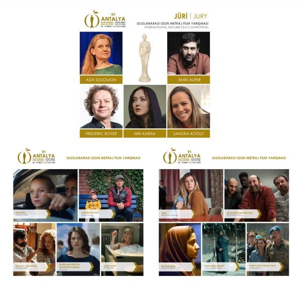 57. Antalya Altın Portakal Film Festivali'nin Uluslararası Uzun Metraj Film Yarışması'nda yarışacak filmler ile jüri üyeleri açıklandı.