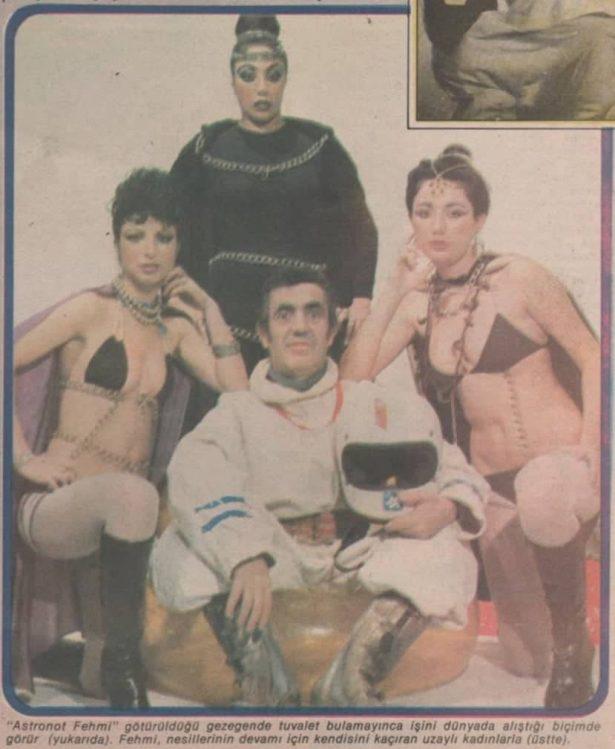 Hey Gidi Yeşilçam köşemizde bu hafta, 25 Aralık 1978 tarihinde Hey Dergisi'nde müjdelenen Astronot Fehmi film haberini sayfalarımıza taşıdık.