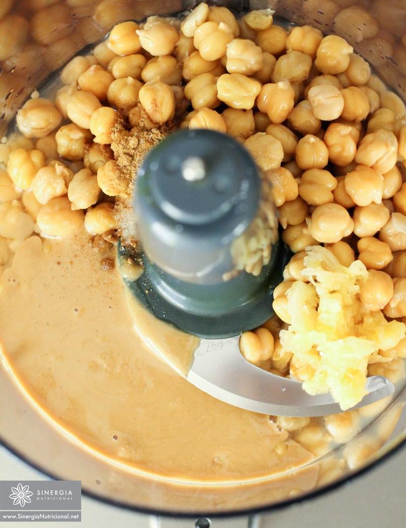 Hummus en proceso