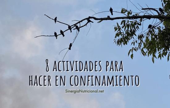8 actividades para hacer en confinamiento