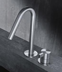 Grifo acero lavabo radomonte toox diseño design griferia almacenes poveda