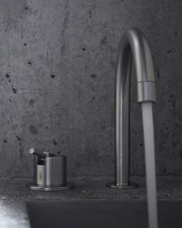 grifo lavabo acero vola griferia diseño almacenes poveda