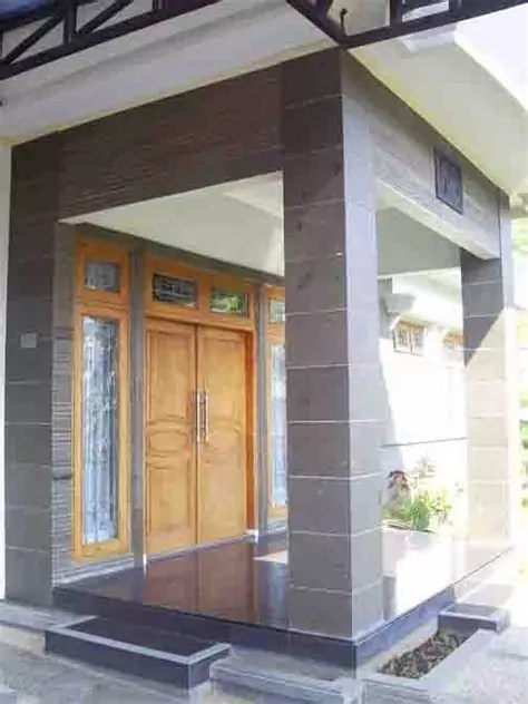 motif batu alam cocok desain rumah minimalis