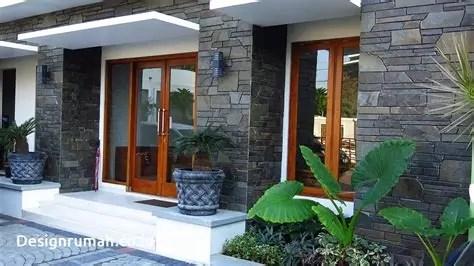 desain rumah minimalis batu alam interistik
