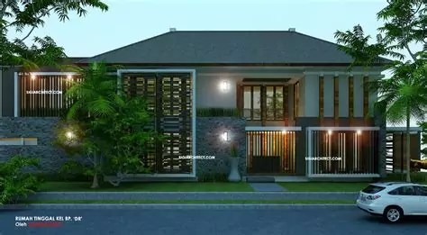 fasad rumah minimalis batu alam rudiju