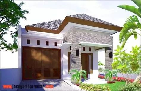 desain teras rumah minimalis batu alam