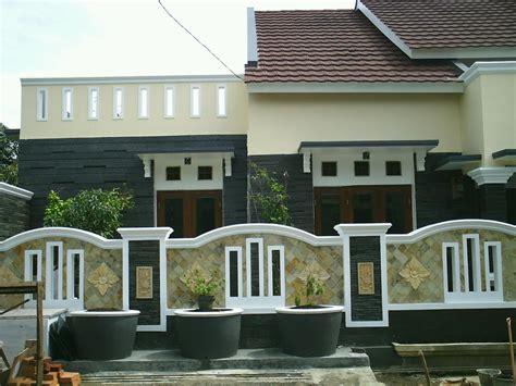 desain rumah minimalis variasi batu alam